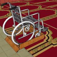 عربة الكراسي المتحركة لأرضيات ال Project Picture