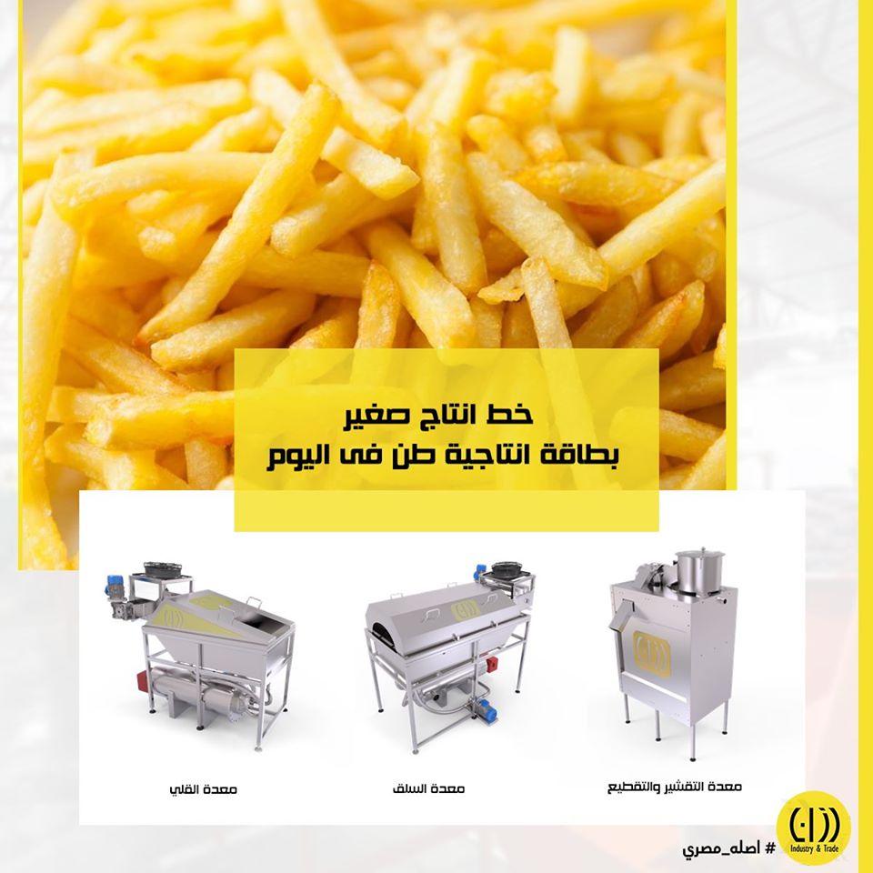 مشروع انتاج البطاطس نصف مقلية Project Picture